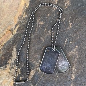 Gucci unisex dog tag necklace